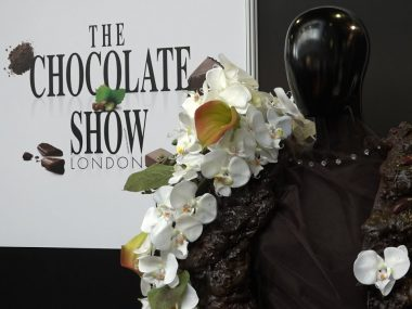 Lady Wimbledon at the Chocolate Show Olympia
