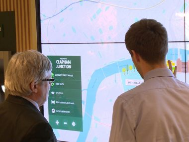 Lloyds bank showcase their digital branch concept in Clapham Junction