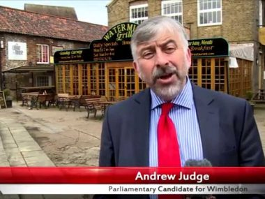 Andrew Judge's 30 second election pitch