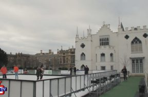Ice Skating at Strawberry Hill House, Richmond