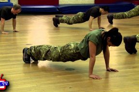 Training with the Royal Marines Reserve, London