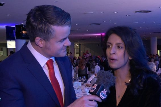 Local celebrity Konnie Huq presents the West London Business awards
