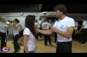 Knife defense at South London Krav Maga
