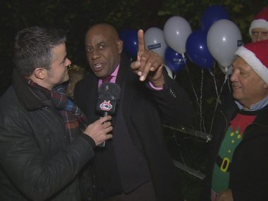Ainsley Harriott turns on the 1st ever Earlsfield Christmas Lights