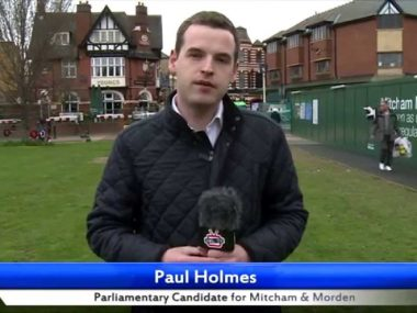 Paul Holmes' 30 second election pitch