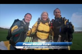 Local Grandma skydives for the Royal Marines