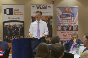 John Holland Kaye talks to West London Business leaders at Heathrow