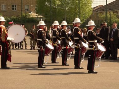 Royal Marines Corps of Drums at Ernest Bevin College