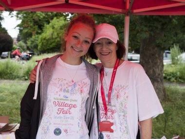 WGVF2016 Volunteers Evelina Belevich, left, and Jenifer Goldsmith