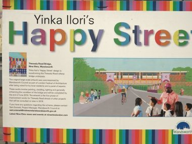 Thessaly Bridge transformed into 'Happy Street'